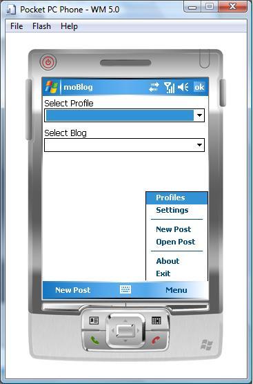 moBlog Home Screen